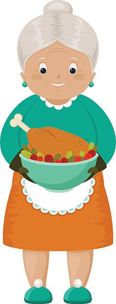 Best Grandma Cooking Illustrations, Royalty.