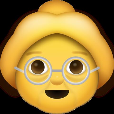 Grandma Emoji [Free Download iPhone Emojis].