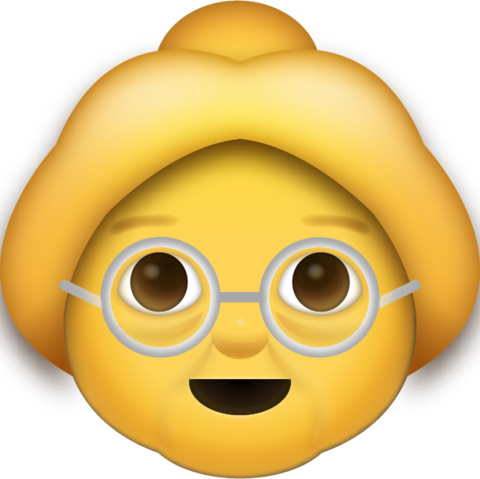 Grandma Emoji [Free Download iPhone Emojis].