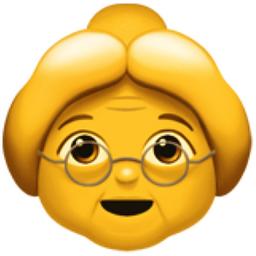 Old Woman Emoji (U+1F475).