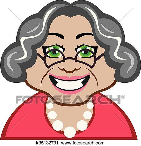 Grandma face clipart 4 » Clipart Portal.