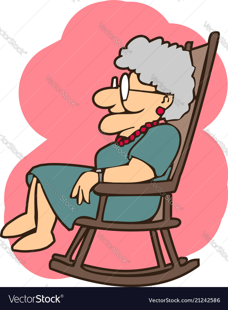 Granny in a rocking chair cartoons.