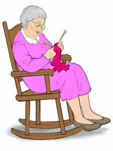 Grandmother clipart rocking chair, Grandmother rocking chair.