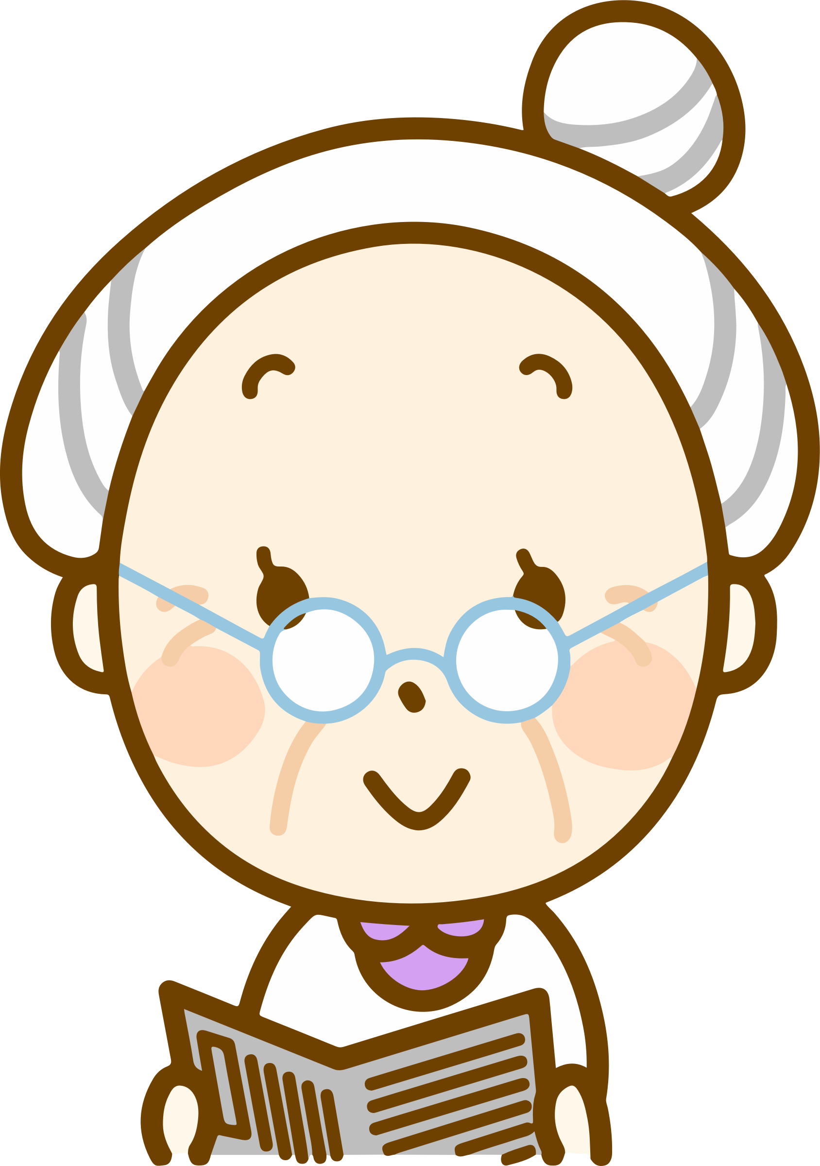 Grandma Reading Clipart , Png Download.