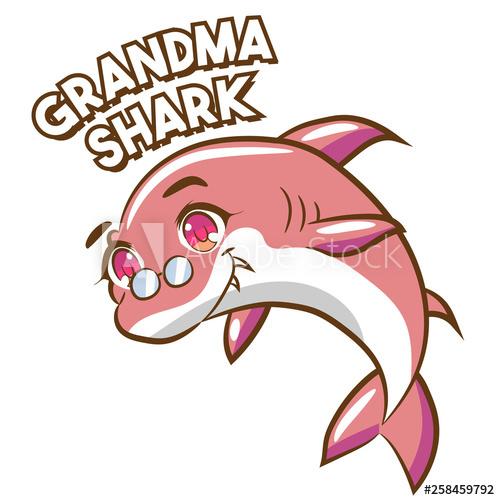 shark clipart design.