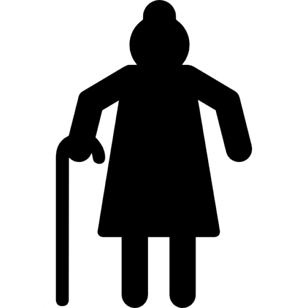 Grandmother silhouette Icons.