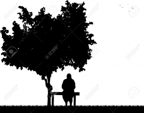 African American Grandmother Illustration Silhouette.
