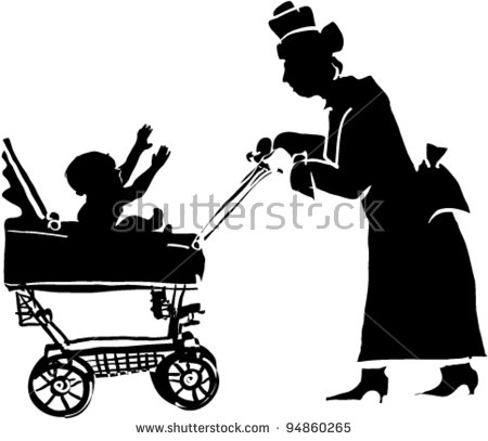 Grandma Silhouette Stock Images, Royalty.