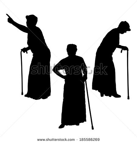 Vector Silhouette Graphic Illustration Depicting Three Stock.