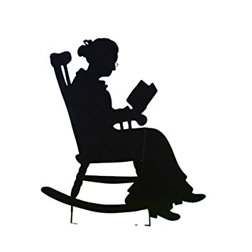 Amazon.com: Charming Rocking Chair Shadow Figure Yard Stakes.
