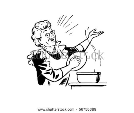 Woman Cooking Stock Vectors, Images & Vector Art.
