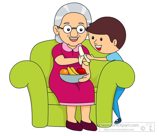 Grandmother And Child Clipart.