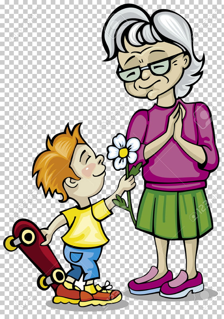 Grandparent grandmother , child PNG clipart.