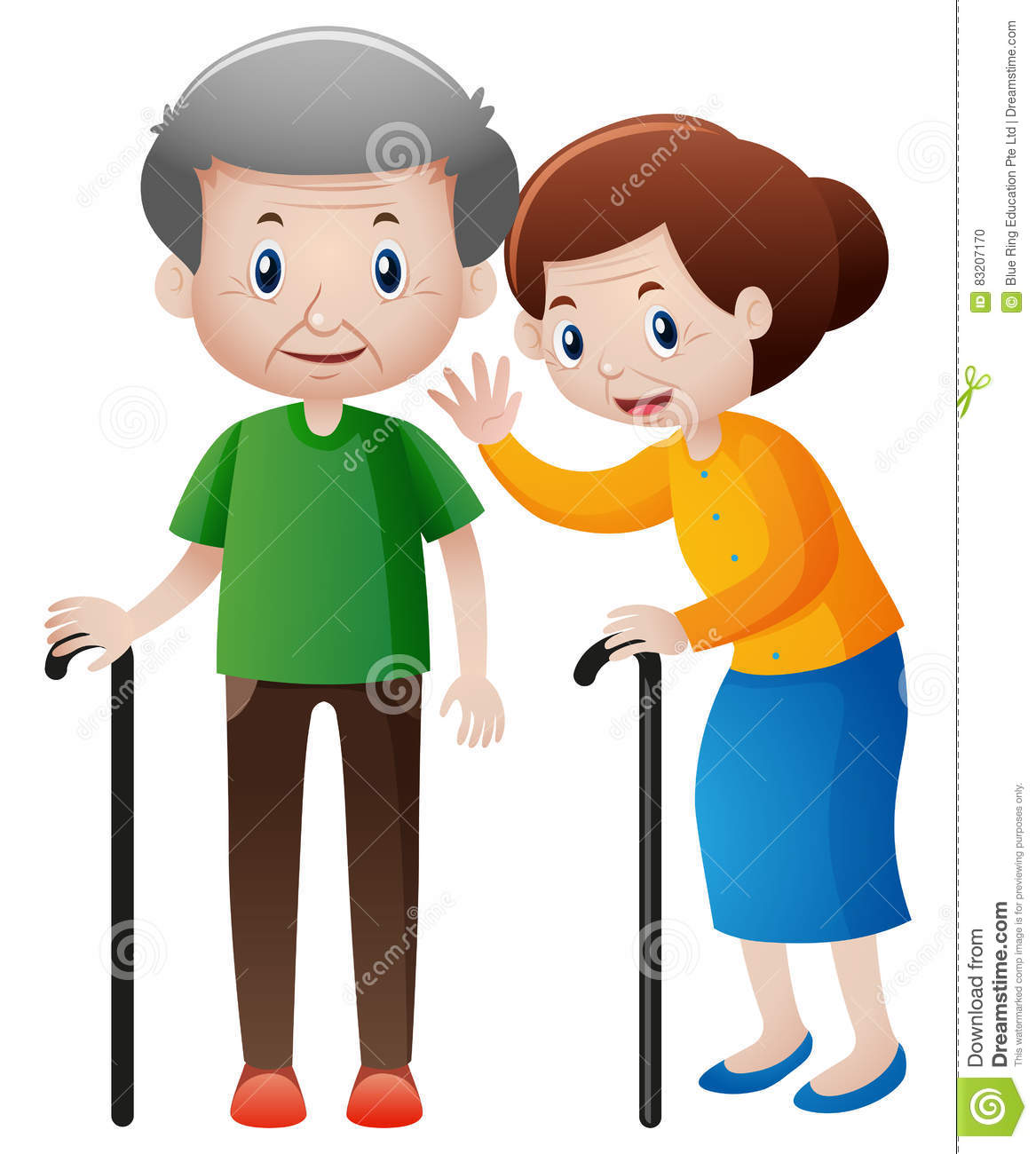 Grandmother and grandfather clipart 9 » Clipart Station.