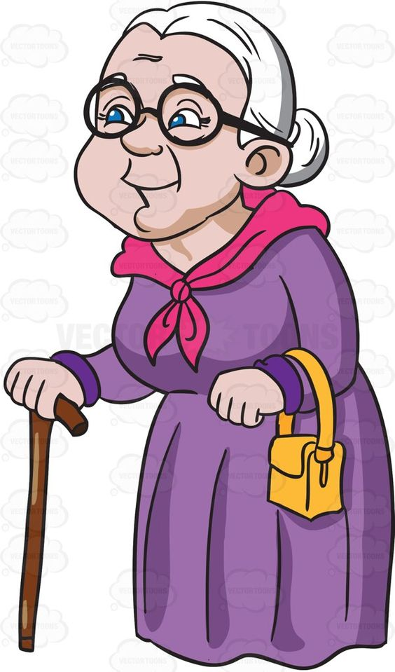 Happy grandma clipart.