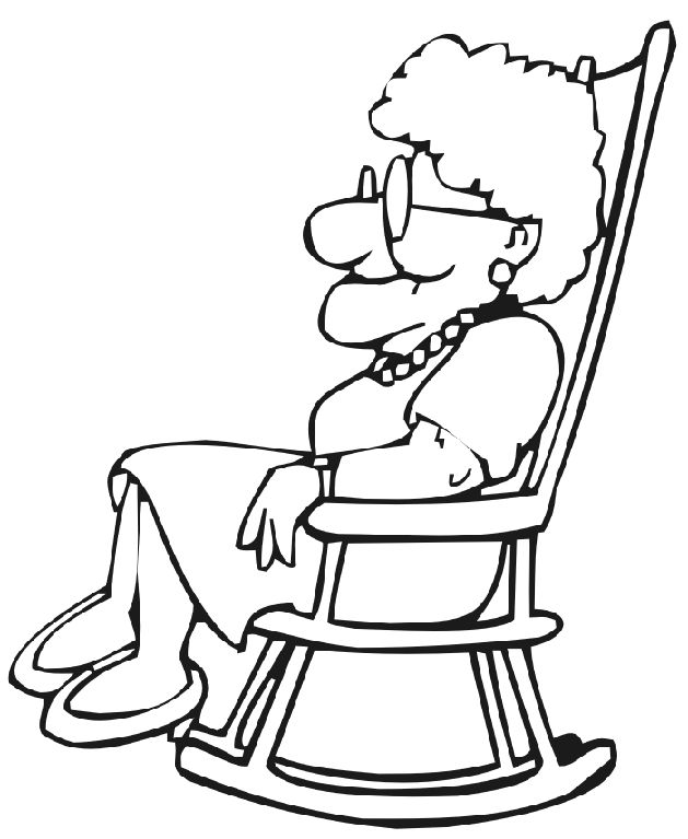 765 Grandmother free clipart.