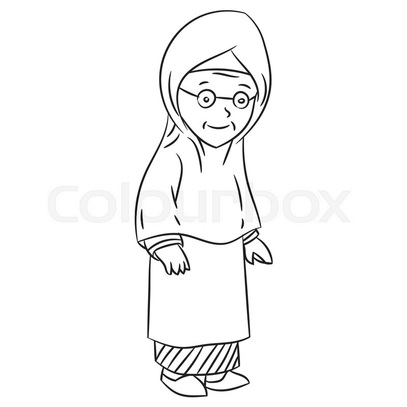 Grandmother clipart black and white 1 » Clipart Station.