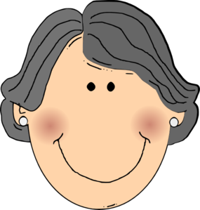 Grandmother Face Clipart.