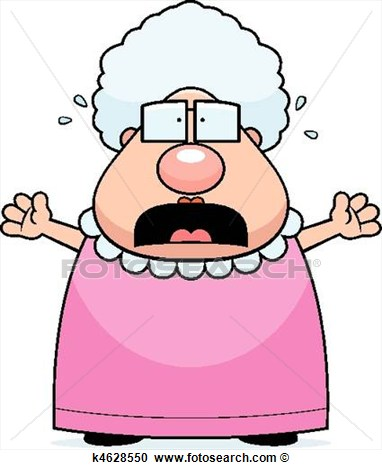 Cartoon Grandma Clipart.