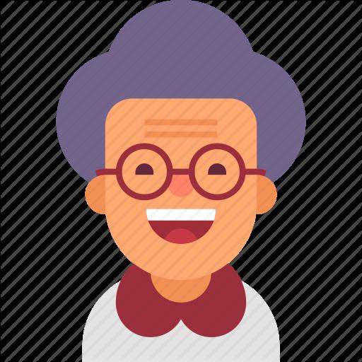 Avatar, Glasses, Grandma, Grandmother, H #106033.