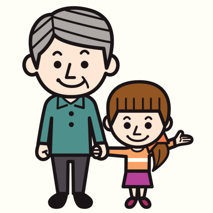 Grandpa And Granddaughter Clipart.