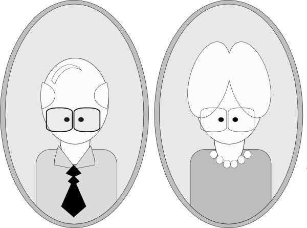 Grandpa And Grandma clip art Free vector in Open office.