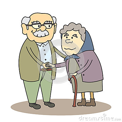Grandpa and grandma clipart » Clipart Station.