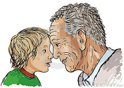 Grandfather Grandson Stock Illustrations.