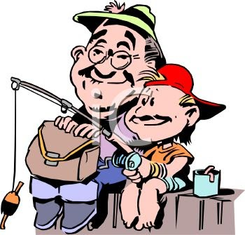Showing post & media for Grandpa and grandson fishing cartoon.