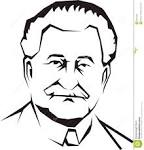 Grandfather Black And White Clipart.