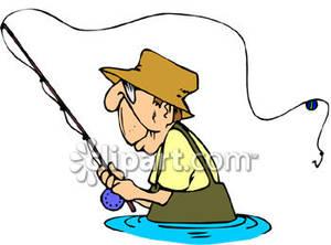 An Old Man Fishing.