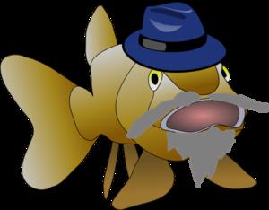 Grandpa Fish Clip Art at Clker.com.