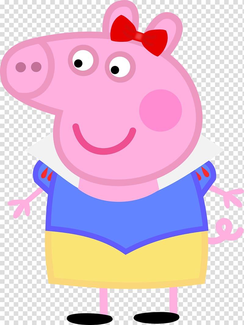 Mummy Pig Domestic pig Cartoon, PEPPA PIG transparent.