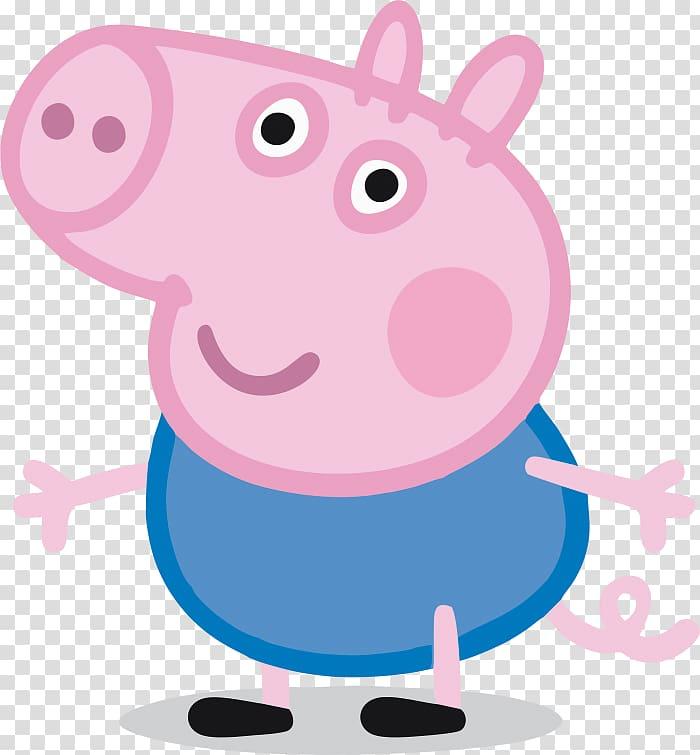 Peppa Pig George illusgtration, George Pig Daddy Pig Grandpa.