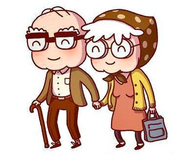 Happy grandparents clipart.