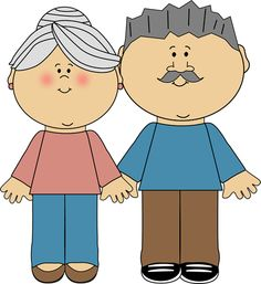Grandparents With Boy Clipart.