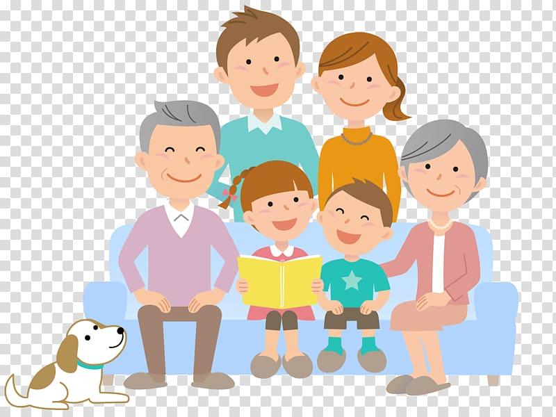 Child Silhouette Business, Grandparents And Grandchildren.