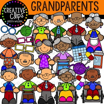 Grandparent Clipart {Creative Clips Clipart}.