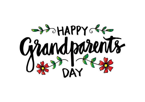 Best Happy Grandparents Day Calligraphy Illustrations, Royalty.