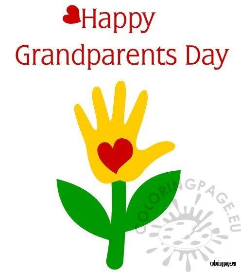 Happy Grandparents Day clipart.