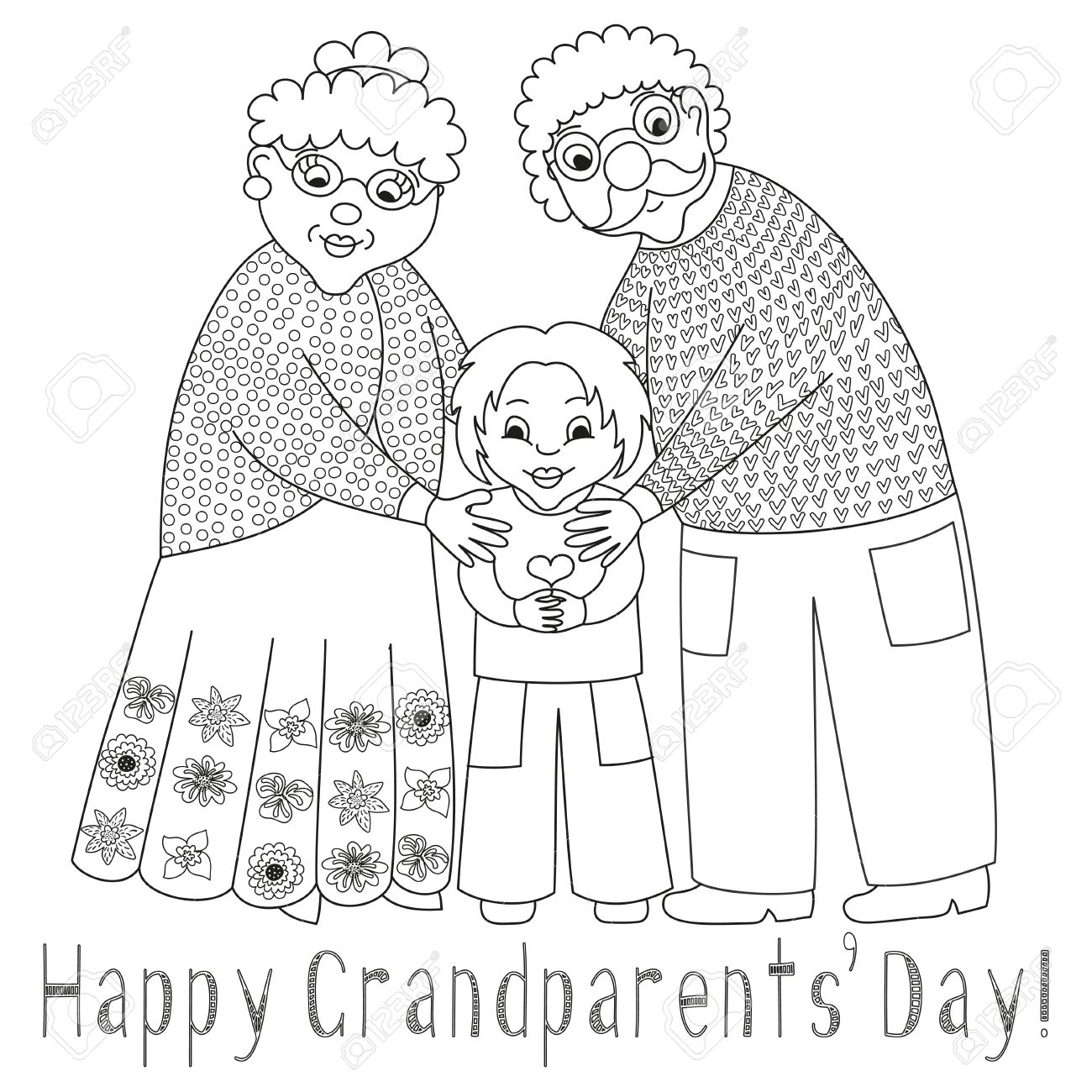 1427 Grandparents free clipart.