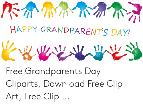 HAPPY GRANDPARENT\'S DAY Free Grandparents Day Cliparts.
