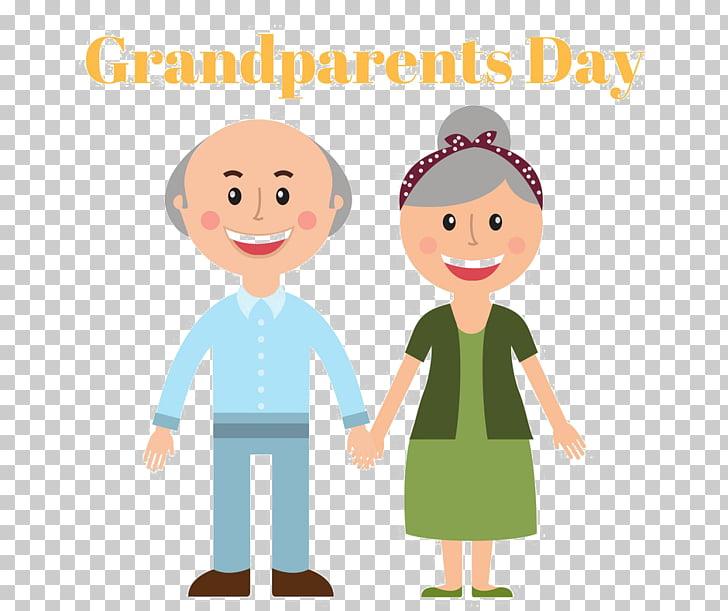 National Grandparents Day Illustration graphics, child PNG.