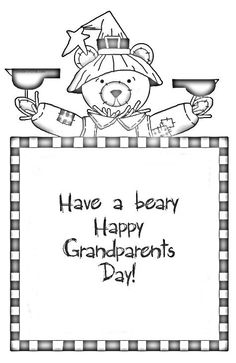 Grandparents Day Stickers Clipart.