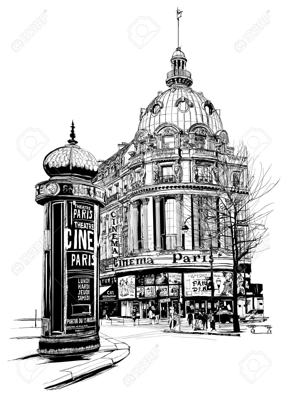 "View Of Paris At The ""grand Boulevard""."