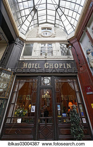 "Picture of ""Hotel Chopin, 1846, historic shopping arcade, Passage."