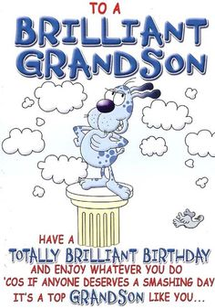 Happy Birthday Grandson Clipart.