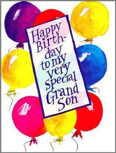 Grandson Birthday Clipart.