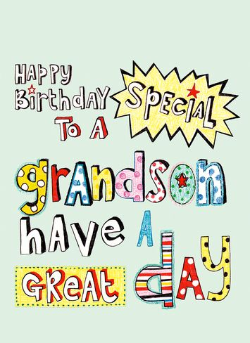 Grandson Birthday Clipart.