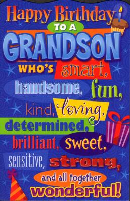 grandson birthday wishes.